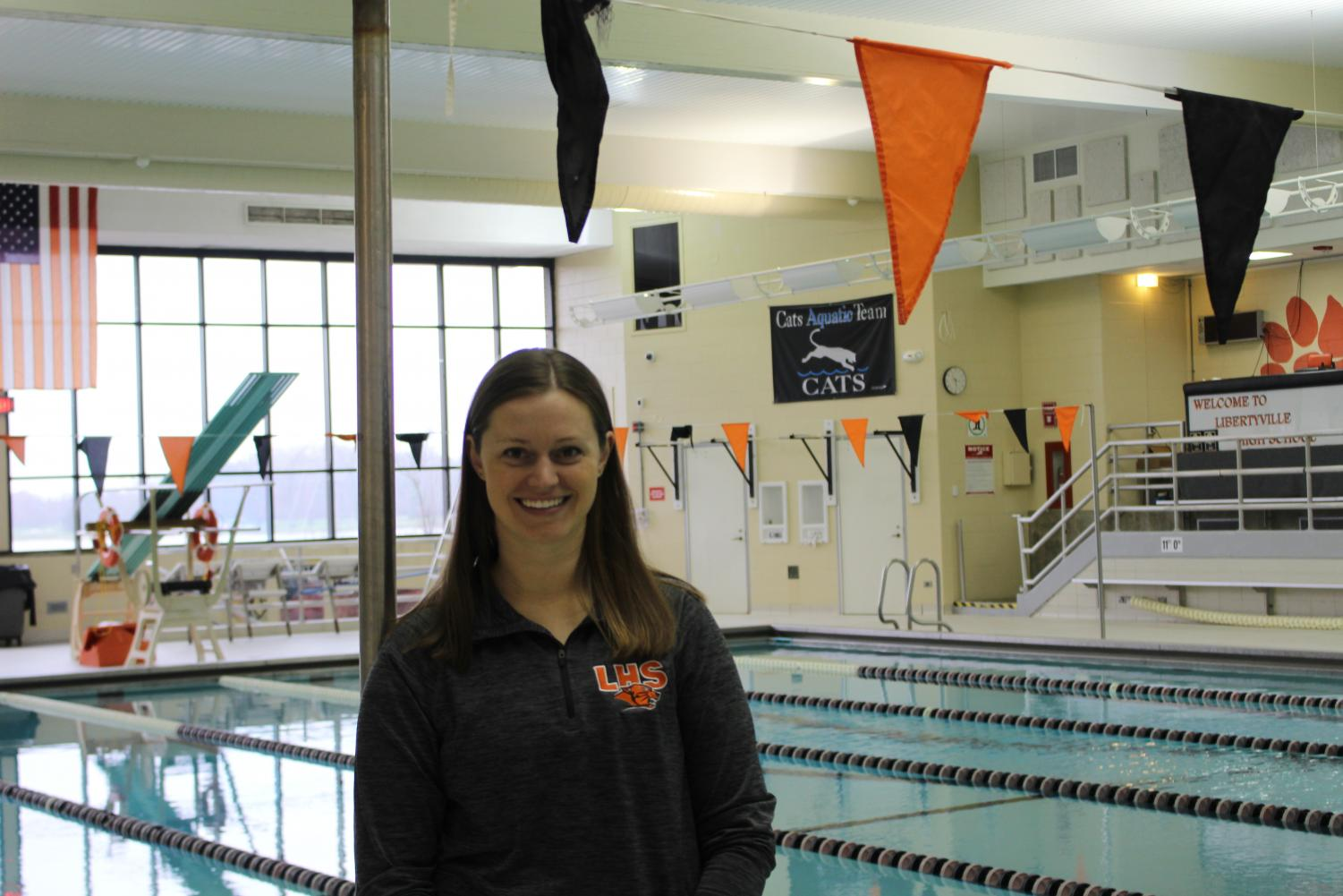 In high school Mrs. Pechauer swam the 100 yard backstroke competitively where she went on to win the state championship both her sophomore and junior year.