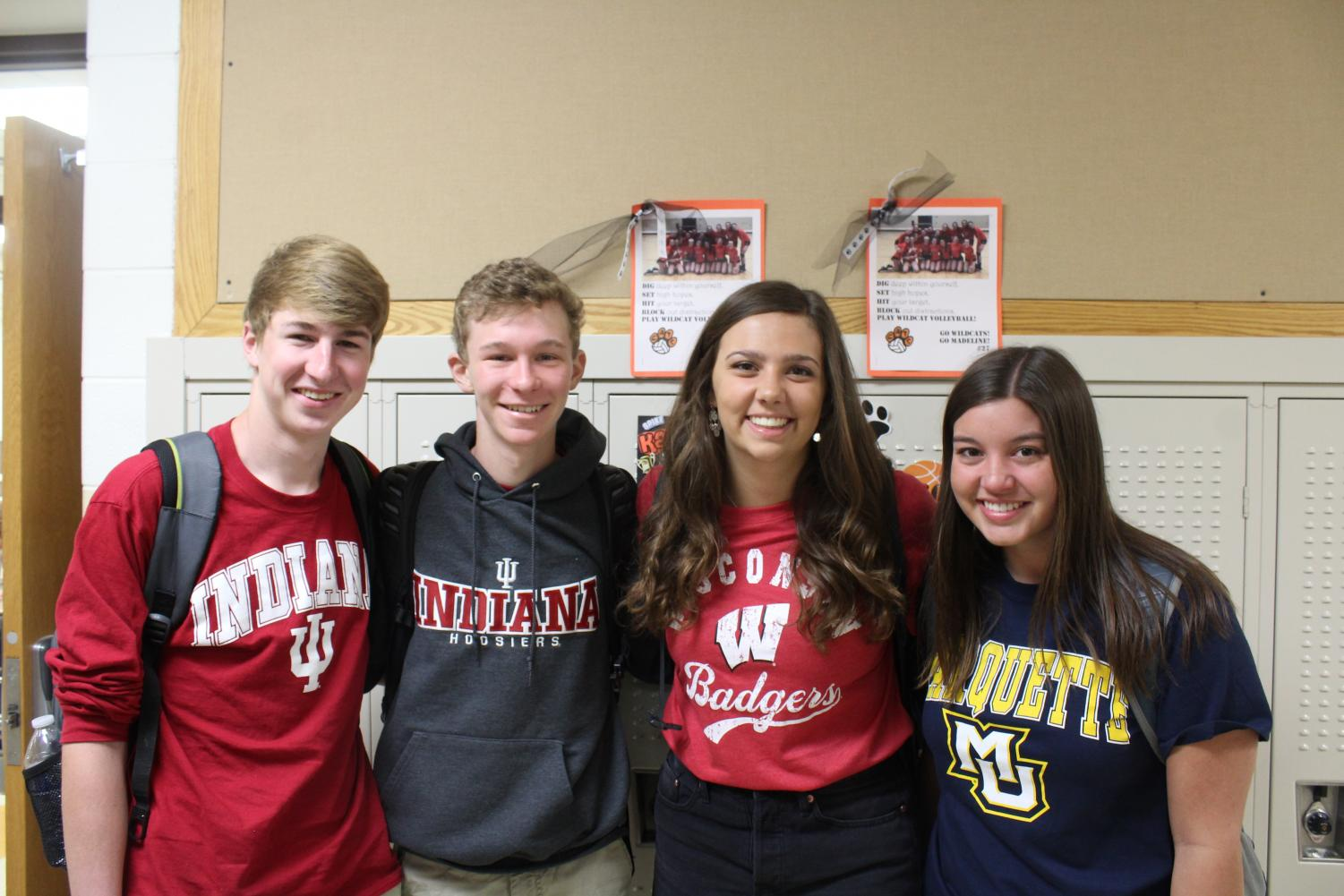 Connor+Landmeier+and+Russell+Skarbek+are+both+attending+Indiana+University%2C+Madeline+Spaulding+is+joining+the+University+of+Wisconsin%2C+and+Chloe+Bleck+is+going+to+Marquette+University.+%0A