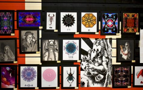 Student works of art from a variety of different classes were on display at the Art Show.