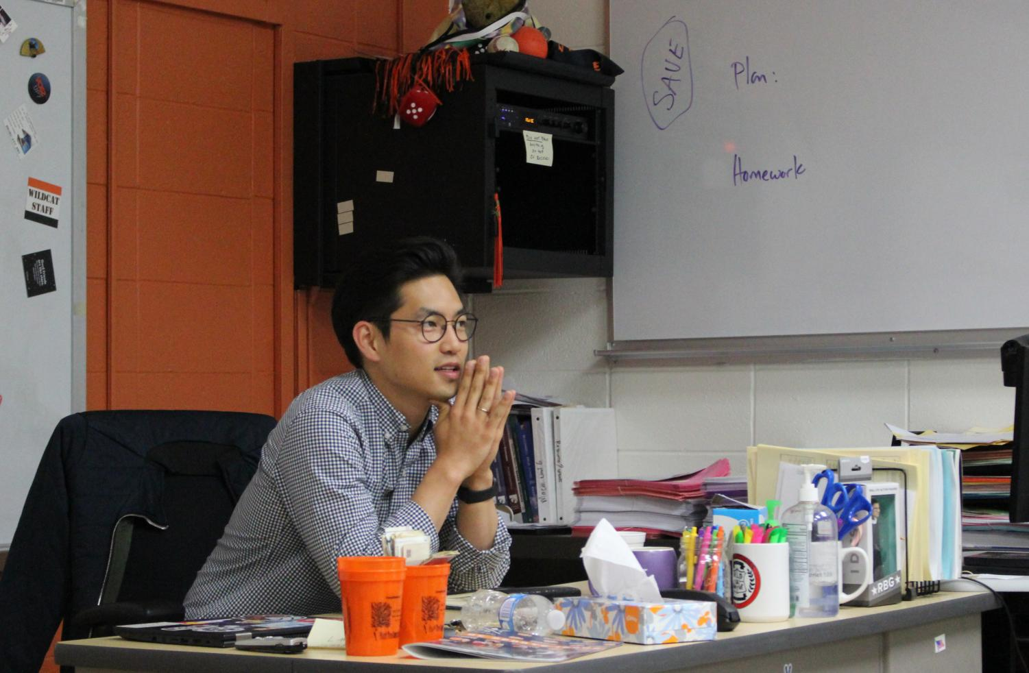 Mr. Kim reflects on the two years he taught at LHS, saying,