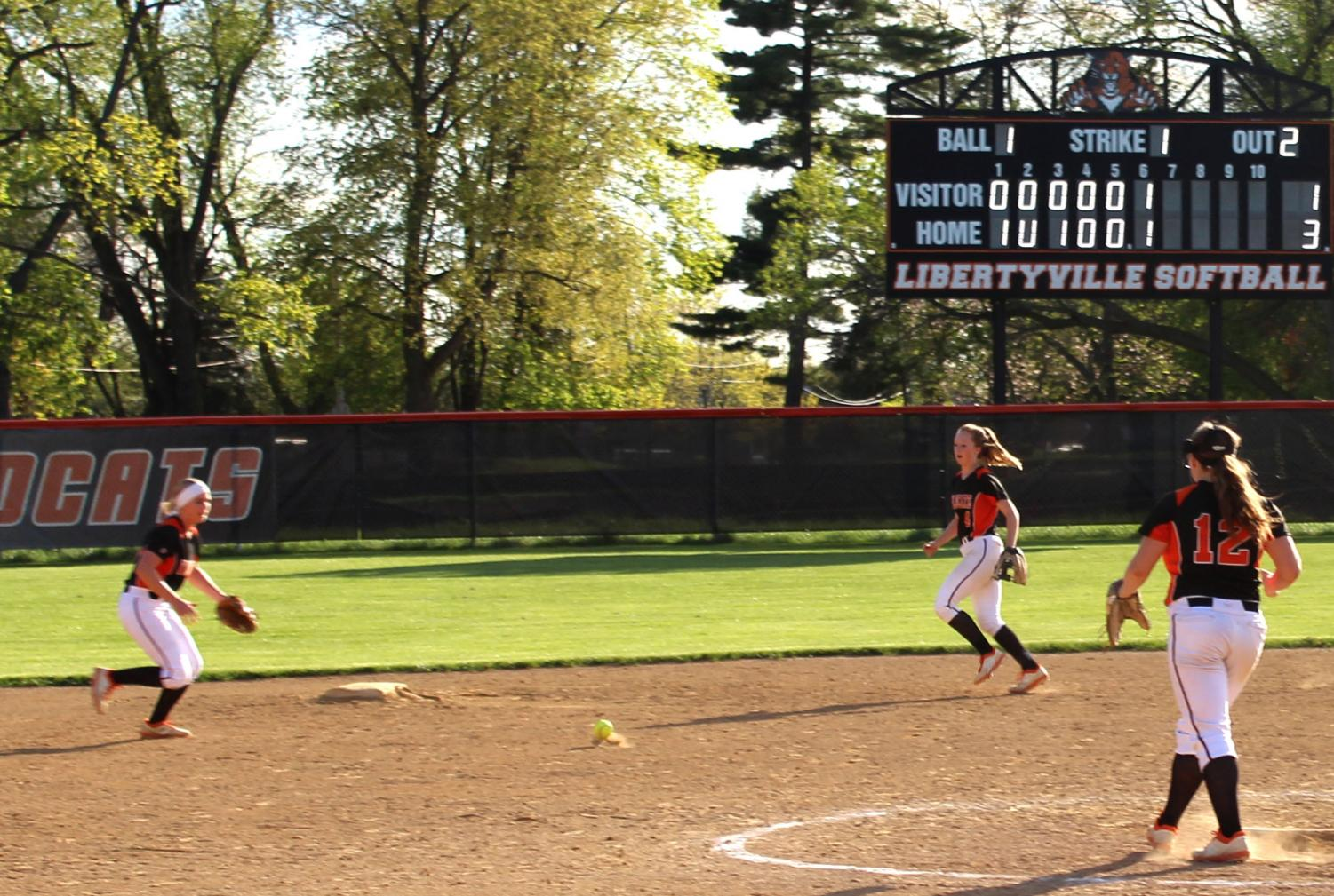 Shortstop+Aliya+Haddon+%28a+DOI+staff+member%29+charges+at+the+groundball+to+get+the+final+out+of+the+seventh+inning%2C+ending+the+game.+