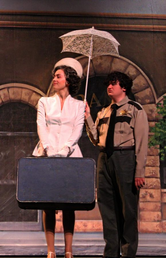 Juniors Abby Gourley and Johnny Thames performed as Mayor Matilda Hyde and Sheriff Earl, who later declared his love for the mayor.