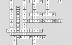 Crossword Answers: New Music