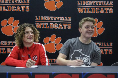 Mickey Reilly commits to Carthage College, alongside Hunter Lynch, who committed to Carroll College, both for soccer.