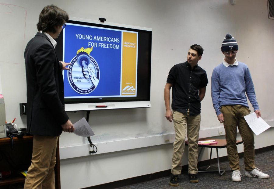 The YAF club's first meeting was on Wednesday, Dec. 11.  The club welcomes students with a variety of beliefs to debate political issues.