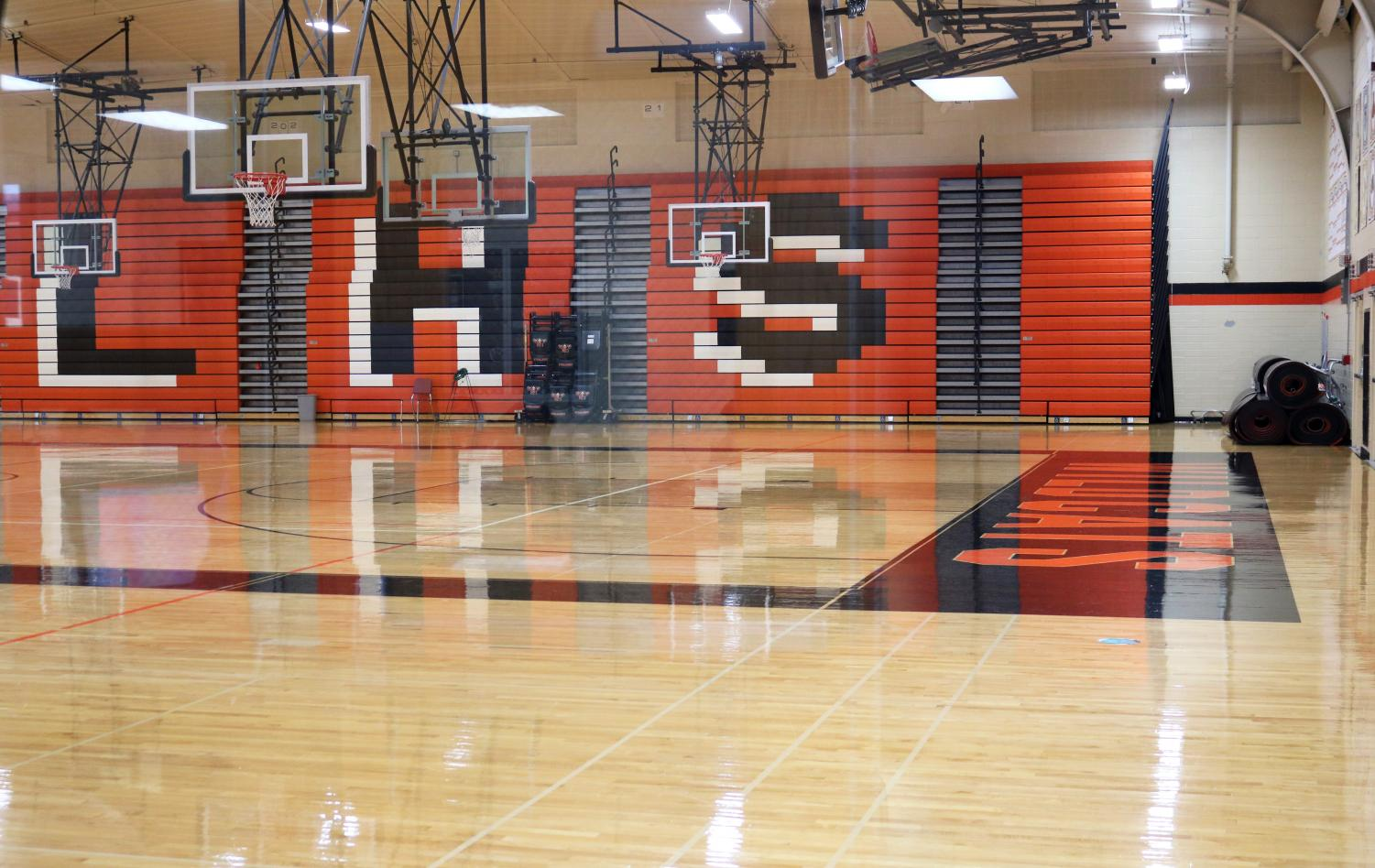 The main gym was closed for a second time after an inspection held on Friday, Nov. 15, where lead paint was found in specks falling from the ceiling. The closing of the gym affected many if the winter sports practices and events.
