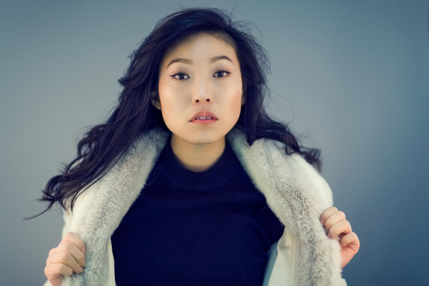 """Awkwafina was the lead actress in the movie """"The Farewell,"""" and she is the first person of Asian descent to win a Golden Globe in that category."""