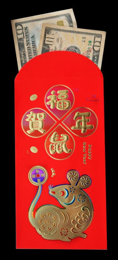 Many LHS students who celebrate Chinese New Year participate in exchanging money, enclosed in special red envelopes, with relatives.