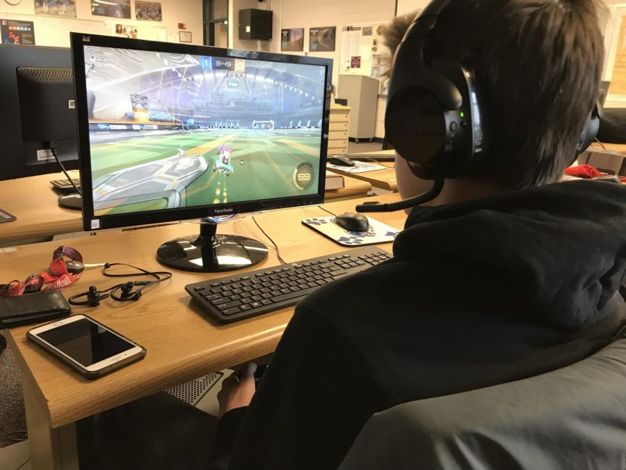 """Vernon Hills High School's eSports team plays competitive games like """"Rocket League"""" and """"League of Legends."""" Photo courtesy of Brandon Watters."""