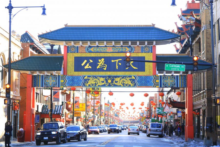 The Chinese New Year is celebrated at a smaller scale in Chinatown in contrast to China's multiple weeks of elaborate decorations, dancers, and parades.
