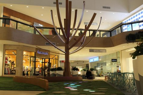 The Center Court development in Hawthorn Mall acts as an aesthetic space surrounded by various stores and open seating.