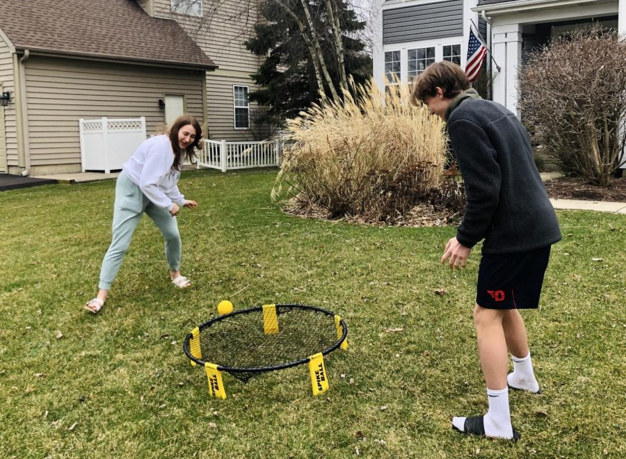 The goal of the game spikeball is to be the first to 21 by not letting the ball hit the rim of the net or hit the ground.