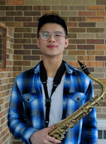 """Senior Allen Liu is a tenor saxophonist in LHS's Wind Ensemble and Jazz Ensemble. Liu also releases music under the stage name """"Lil Ryce"""" on platforms such as Soundcloud and Spotify."""