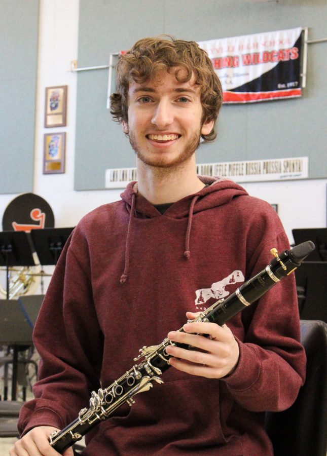 Senior Noah Kublank has played clarinet in LHS's Wind Ensemble for four years. Kublank's primary instrument is violin, but he picked up the clarinet and became involved with the band program in elementary school. Kublank plans to continue music as a violin performance major in college.