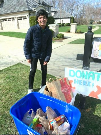 In order to help out the community, sophomore Tavish Sharma has organized a food drive. Picture courtesy of Tavish Sharma.
