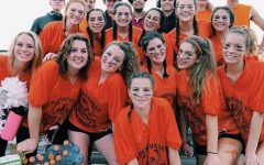Here's me (second to the right!) with some friends at the senior Powder Puff game, an annual tradition in the early fall.
