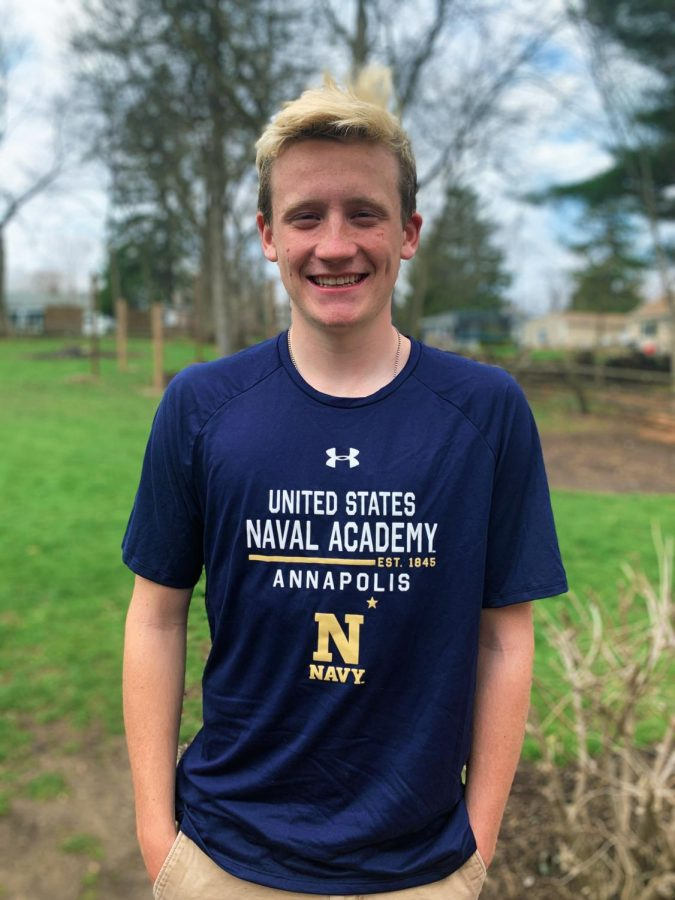 Photo courtesy of Andrew Bacilek. Senior Andrew Bacilek was drawn to the smaller class sizes and unique experiences that the United States Naval Academy provides.