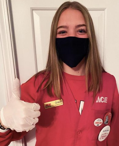 Photo courtesy of Grace Kraft Senior Grace Kraft works at Ace Hardware and has experienced reduced hours and increased business since the stay-at-home order was placed.