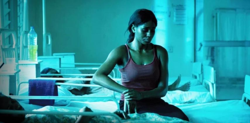 Somkele Idhalama stars as Dr. Ada and delivers an impressive portrayal of dehumanization and suffering.