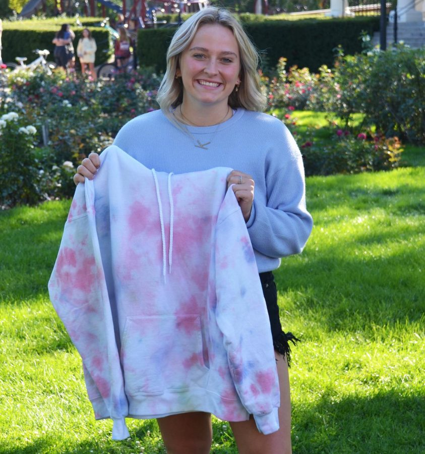 Katie Numeras, a senior, started making and selling tye-dye clothes in April through her Instagram account. She's been selling her products locally and in other states, such as Tennesse, Texas, and Georgia.
