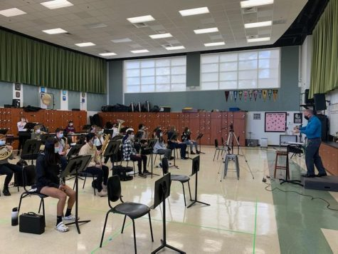 Band's first indoor rehearsal at school this year occurred on Oct. 13.