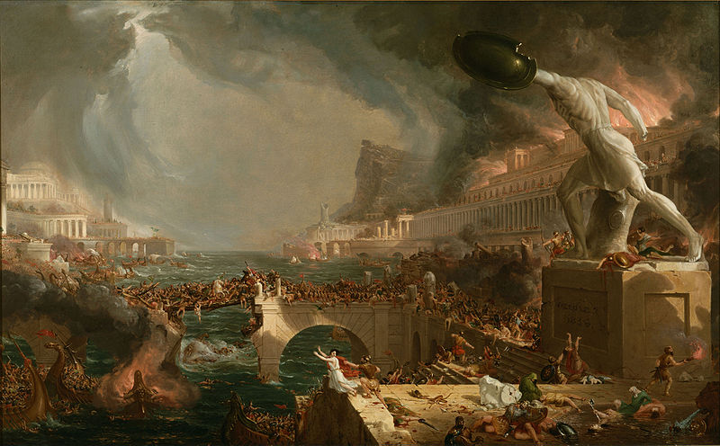 Just+as+the+Roman+Empire+eventually+collapsed%2C+leaving+behind+chaos+and+empty+ruins%2C+America+and+her+empire+will+eventually+succumb+to+the+structural+faults+she+is+built+on.+%0A