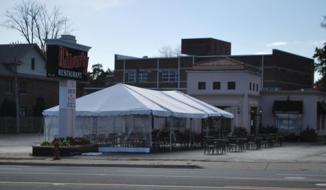 The Liberty Restaurant has drawn back many of their regular customers with abundant outdoor seating. They utilized their large parking lot to create this new space.