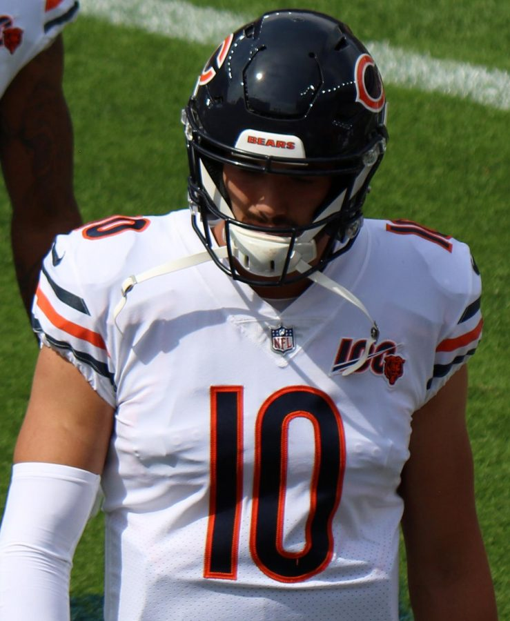Mitch+Trubisky+%2810%29+was+benched+for+poor+play+in+Week+3+and+replaced+by+Nick+Foles.