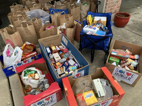 During Tavish Sharma's Wheels for Meals launch event, his neighborhood donated over 4,000 pounds of food, which was distributed to local food banks.