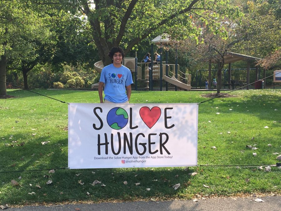 Photo courtesy of Tavish SharmaThe Solve Hunger logo was designed by Sharma's younger sister. The globe represents Sharma's goal to help families across the world have access to food, and the heart represents the idea that the project is done through love and kindness.
