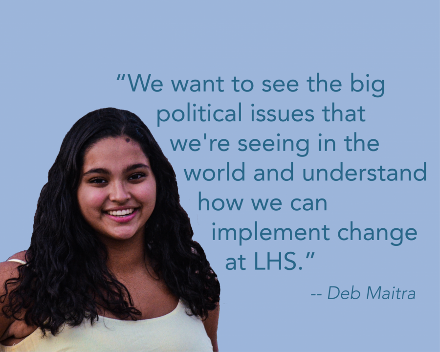 Junior Deb Maitra hopes that Students Supporting Equal Rights will bring about change within the LHS community.