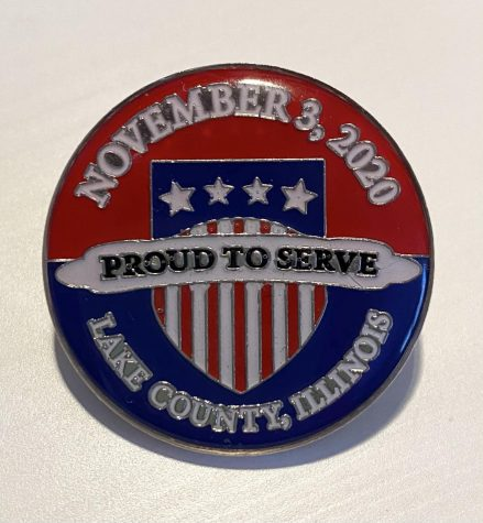Each judge was given a pin to commemorate their time serving during the 2020 presidential election.