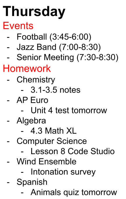 Students can be assigned hours and hours of homework every night on top of their already busy schedule, leading to late nights and unneeded stress.