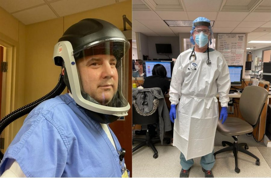 The staff in AMITA Health Resurrection Medical Center Chicago and Advocate Good Shepherd Hospital, including Dr. Sharp (right) and Dr. Greenberg (left), are making sure to take every precaution, such as rubber gloves, face masks and shields, eye protection, and more, to keep themselves safe.