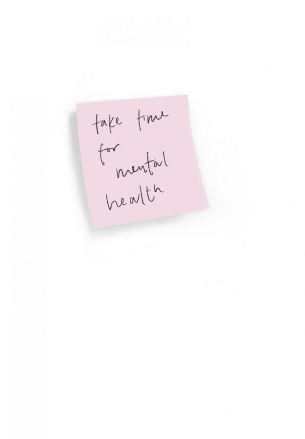 sticky note that says