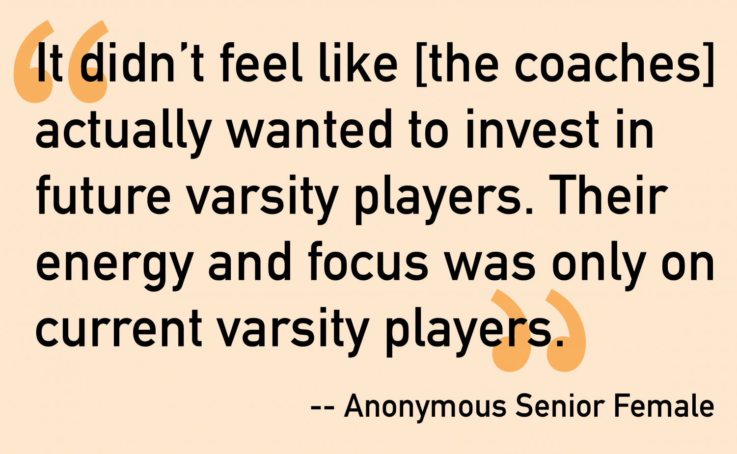 Negative coaching experiences cause some student athletes to quit
