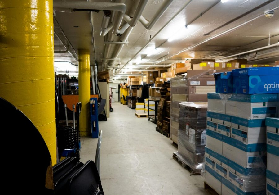 The bulk of LHS's copy paper is stored in the basement, as well as other common classroom supplies. Building and Grounds Director Chris Stancil expressed that while LHS normally uses an extremely large amount of paper each school year, significantly less has been used this year due to e-learning.