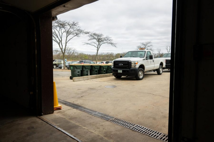 The loading dock is used to bring in supply shipments, transport recycling and allow for bigger storage items to be easily brought in and out of the building.