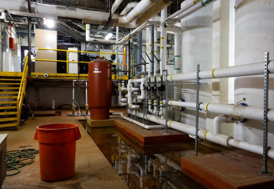 LHS's hot water supply is stored and maintained below the basement. Three main tanks that feed directly into the school's pipelines have replaced the older, more complex system in which the water was moved to several locations before reaching the direct pipelines, according to Mr. Stancil.