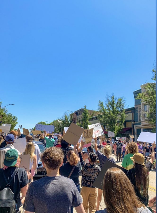 Systemic racial justice can only occur with a conjoined effort of individuals in our society. In the picture above, part of the effort towards racial equity occurred here in Libertyville, in June 2020.