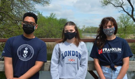 (From left to right) Daniel Maliekal, Kiah Smith and Emily Scheibler are all attending college outside of the U.S. Maliekal is going to the University of Toronto at Scarborough in Canada; Smith will be attending the University of Plymouth in England; and Scheibler is going to Franklin University of Switzerland.