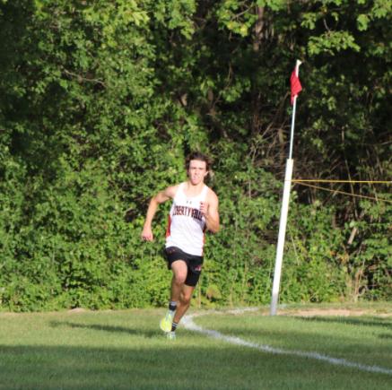 Senior Jack Hamilton racing towards the finish line.