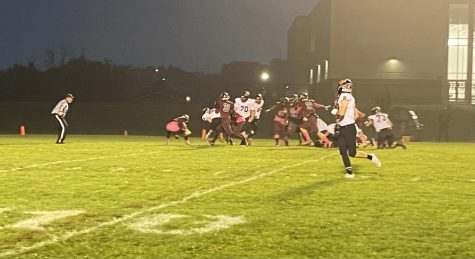 harlie True (28) plows his way into the endzone for a touchdown.